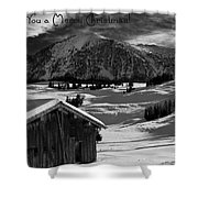 Wishing You A Merry Christmas Austria Europe Shower Curtain by Sabine Jacobs