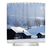 Wishing You A Wonderful Christmas Shower Curtain by Sabine Jacobs