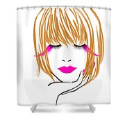 Woman 10 Shower Curtain by Cheryl Young