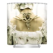 Woman With Bonnet Shower Curtain by Joana Kruse