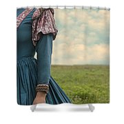 Woman With Renaissance Dress Shower Curtain by Joana Kruse