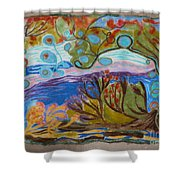 Woolscape Shower Curtain by Heather Hennick