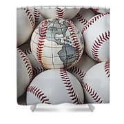 World Baseball Shower Curtain by Garry Gay