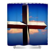 World Largest Cross In Illinois Shower Curtain by Susanne Van Hulst