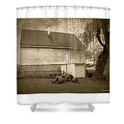 Wye Mill - Sepia Shower Curtain by Brian Wallace