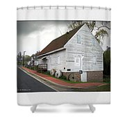 Wye Mill - Street View Shower Curtain by Brian Wallace