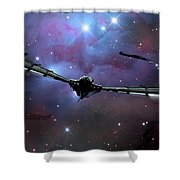 Xeelee Nightfighters, Inspired Shower Curtain by Rhys Taylor