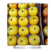 Yellow Apples Shower Curtain by Carlos Caetano