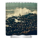 You Came Crashing Into My Heart Shower Curtain by Laurie Search