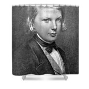 Young Victor Hugo, French Author Shower Curtain by Photo Researchers