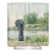 Young Woman Shower Curtain by Winslow Homer