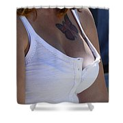 Youthful Expression Shower Curtain by Bob Christopher