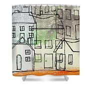 Houses By The River Shower Curtain by Linda Woods