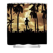 Replica Of The Michelangelo Statue At Ringling Museum Sarasota Florida Shower Curtain by Mal Bray