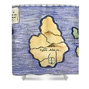 Map Of Atlantis, 1678 Shower Curtain by Granger