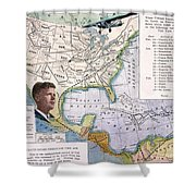 Charles Lindbergh Shower Curtain by Granger