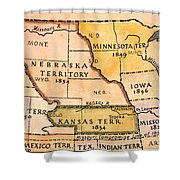 Kansas-nebraska Map, 1854 Shower Curtain by Granger
