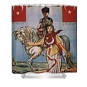 REPUBLIC OF TURKEY: POSTER Shower Curtain by Granger