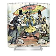Missionary Cartoon, 1895 Shower Curtain by Granger