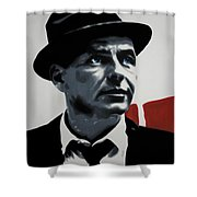 - Sinatra - Shower Curtain by Luis Ludzska