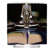 1934 Packard Hood Ornament 3 Shower Curtain by Jill Reger