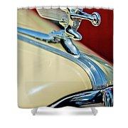 1940 Packard Hood Ornament Shower Curtain by Jill Reger