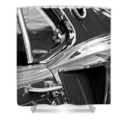 1969 Ford Mustang Mach 1 Side Scoop Shower Curtain by Jill Reger