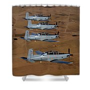 A Formation Of Iraqi Air Force T-6 Shower Curtain by Stocktrek Images
