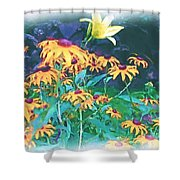 A Lily In The Field Shower Curtain by Patricia Griffin Brett