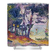 A Pine Grove Shower Curtain by Henri-Edmond Cross