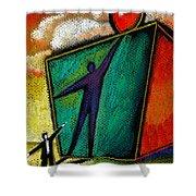 Ambition Shower Curtain by Leon Zernitsky