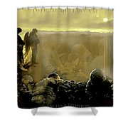 Angels And Brothers Shower Curtain by Todd Krasovetz
