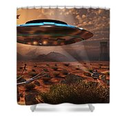 Artists Concept Of Stealth Technology Shower Curtain by Mark Stevenson