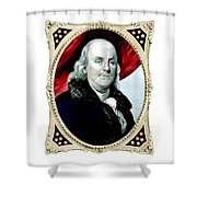 Ben Franklin Shower Curtain by War Is Hell Store