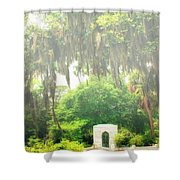 Bonaventure Cemetery Savannah Ga Shower Curtain by William Dey
