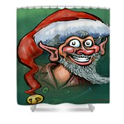 Christmas Elf Shower Curtain by Kevin Middleton
