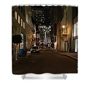 Christmas Eve 2009 On Maiden Lane In San Francisco Shower Curtain by Wingsdomain Art and Photography