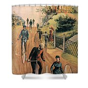 Columbia Bicycles Poster Shower Curtain by Granger