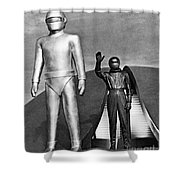 Day The Earth Stood Still Shower Curtain by Granger