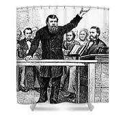 Dwight Lyman Moody Shower Curtain by Granger