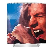 Eddie Vedder Shower Curtain by Gordon Dean II