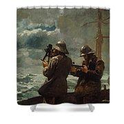 Eight Bells Shower Curtain by Winslow Homer