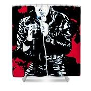 Elvis Shower Curtain by Luis Ludzska