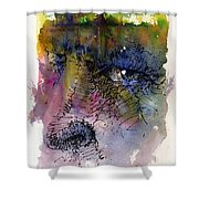 Face with Tree Shower Curtain by John D Benson