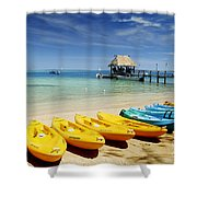 Fiji, Malolo Island Shower Curtain by Himani - Printscapes