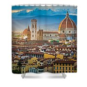 Firenze Duomo Shower Curtain by Inge Johnsson