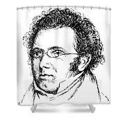 FRANZ SCHUBERT (1797-1828) Shower Curtain by Granger