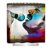 Freddie Mercury Shower Curtain by Mark Ashkenazi