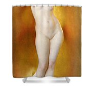 Glow of Gold Gleam of Pearl Shower Curtain by William McGregor Paxton