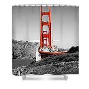 Golden Gate Shower Curtain by Greg Fortier